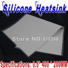 Envío libre 400mm * 200mm * 0.5mm Gris de Silicona disipador Thermal Pad de Refrigeración almohadillas para CPU GPU VGA Disipador de Chips