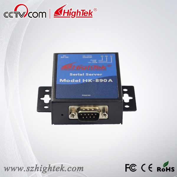 HighTek HK-890A TCP/IP Ethernet to RS232 Serial Device Server hightek hk 8116b industrial 16 ports rs485 422 to ethernet converter ethernet to serial device server
