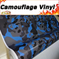 Car styling Snow Camouflage Vinyl Car Sticker Blue Grey Black Vinyl Film Wrap With Air Free Bubbles Vehicle Motorbike Wrapping