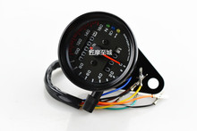 Universal Motorcycle Speedometer Odometer 12V Dual Speed Meter with LED Indicator