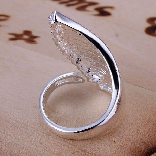 Pojedinačni anđeoski krili protežu se prsten za žene sjajni nakit - Modni nakit - Foto 3