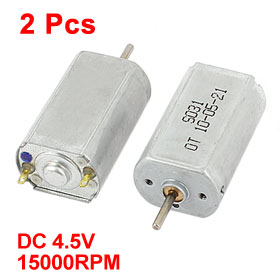 Uxcell(R) Hot Sale 2Pcs DC <font><b>4.5V</b></font> 15000RPM 2mm Dia Shaft High Speed Model Airplane DC <font><b>Motor</b></font> image