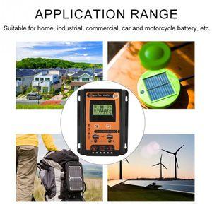 Image 4 - Şarj regülatörü 12V 24V 30A 50A 70A MPPT Solar şarj regülatörü güneş paneli bataryası regülatörü çift USB LCD ekran