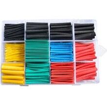 Набор термоусадочных трубчатых втулок кабель полиолефин ассортимент электронный полиолефин Соотношение 2:1 обмотка провода Кабельная втулка термоусадочная