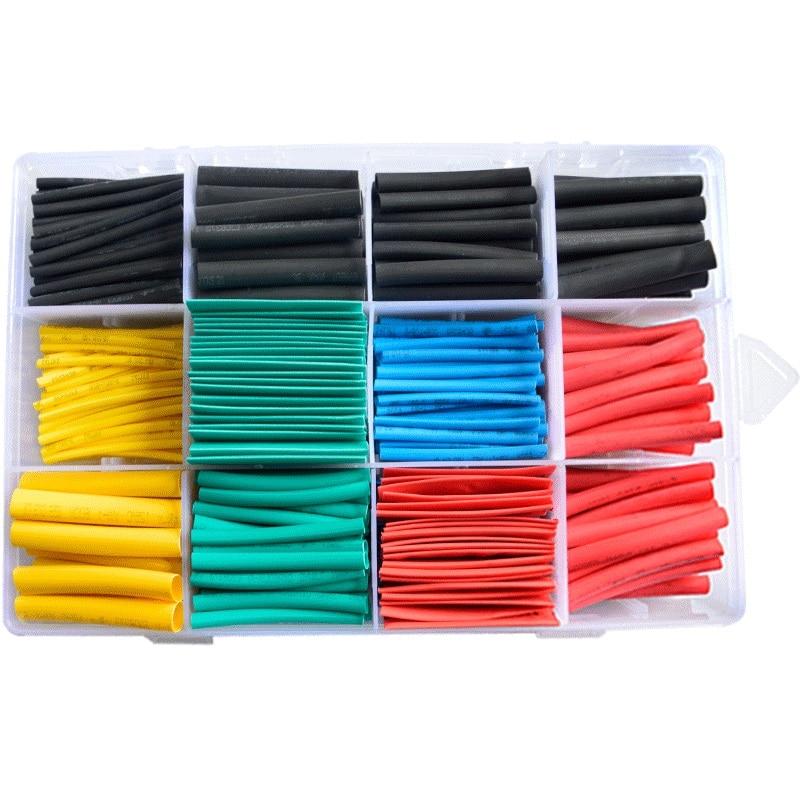 Conjunto de Tubo termorretráctil manga cable poliolefina surtido electrónicos poliolefina relación 2:1 de Cable de alambre de manga termorretráctil