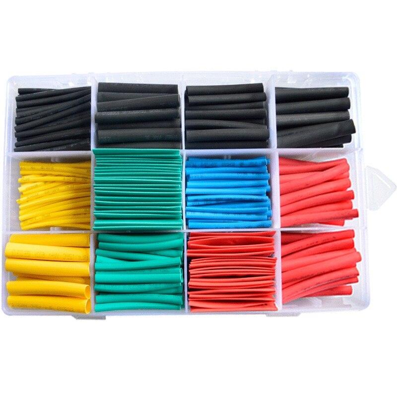 Set Schrumpf Schläuche sleeve kabel polyolefin Sortiment Elektronische Polyolefin Verhältnis 2:1 Wrap Draht Kabel Hülse schrumpf