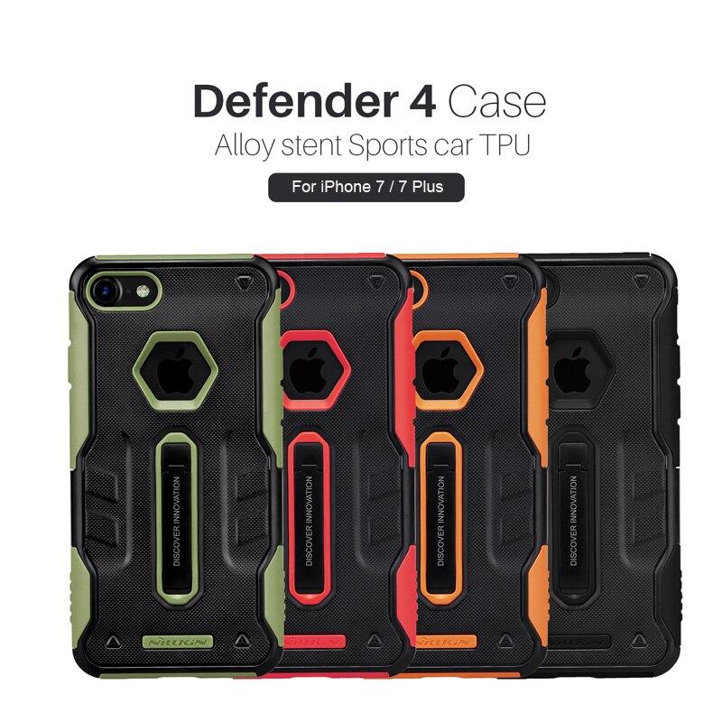 imágenes para DEFENSOR Caso de Nillkin Para Apple iPhone 7 Plus 7 4 de Lujo Slim Case Para el iphone 7 Plus 5.5 ''Teléfono Volver Armadura Cubre