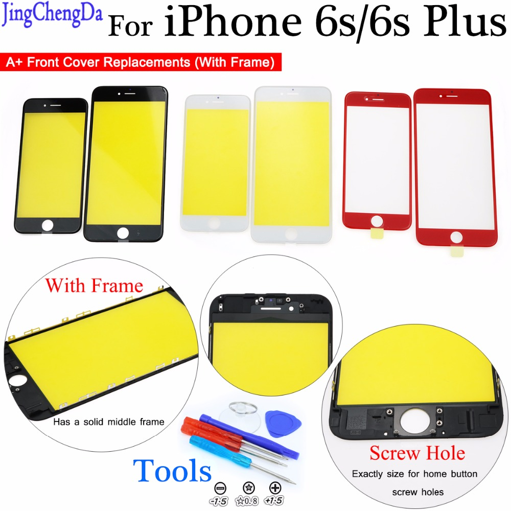 JCD A+ LCD Front Glass screen for iPhone 6s plus Touch Screen LCD Front Touch Panel Glass Outer Lens Screen Digitizer image