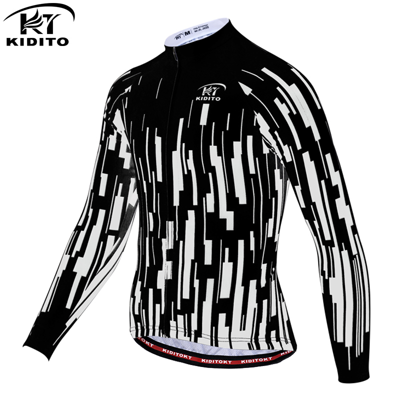 KIDITOKT Cycling Jersey Warm Pro Mtb Long Sleeve Men <font><b>Bike</b></font> Wear Clothing Maillot jersey hombre ciclismo riding <font><b>bike</b></font> <font><b>equipment</b></font> image