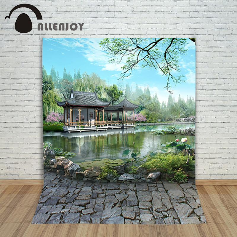 Allenjoy beauty studio background baby Garden Lake Scenic photo background photography backdrop 5x7ft(150x220cm) 300cm 200cm about 10ft 6 5ft fundo butterflies fluttering woods3d baby photography backdrop background lk 2024