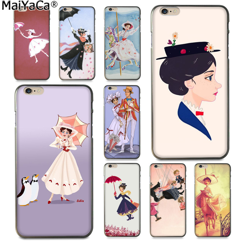 MaiYaCa Mary Poppins Luxury fashion cell phone case  for Apple iPhone 8 7 6 6S Plus X 5 5S SE XS XR XS MAX Cover
