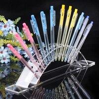 Clear Acrylic Pen Display Stand Pencil Holder Rack Organizer For 6pcs Pen Lipstick Display Pen Box