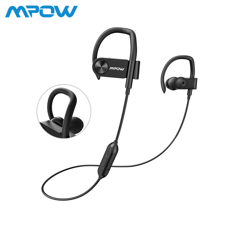 MPOW D2 Wireless Bluetooth Headphone IPX7 Waterproof Sport Earphone With Mic & Carry Case Bag For iPhone/Samsung/Huawei/Xiaomi origial mpow h5 2nd generation anc wireless bluetooth headphone wired wireless with mic carrying bag for pc iphone huawei xiaomi