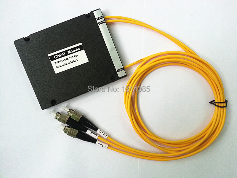 Fiber Optic 2 Channel CWDM Mux Demux Module 1310-1490nm with FC/UPC Connector