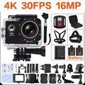 Ultra HD 4 K Câmera wi-fi Mini câmara de Vídeo 16MP 170 Ir cam sj pro 4 K Camara deportiva 2 polegadas 30 M À Prova D' Água Câmera Esporte navio livre