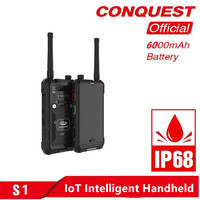 CONQUEST S1 IP68 Walkie Talkie Rugged Phone with Bar/QR Code/RFID/NFC OTG and IoT Intelligent Handheld Shockproof Smartphone