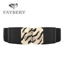 2018 Obi Stylish Leopard Print Elastic Belts for Women Fashion Lady Solid Stretchy Elastic Wide Belt Wedding Dress Waistband stylish vivid big flower shape embellished elastic waistband for women