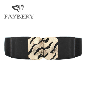 2018 Obi Stylish Leopard Print Elastic Belts for Women Fashion Lady Solid Stretchy Elastic Wide Belt Wedding Dress Waistband stylish solid color stretchy yoga pants for women