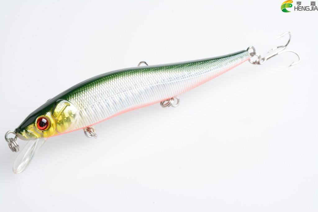 HENGJIA Brand New Minnow Fishing Lures 11.5CM 13.1G Fish Minnow Lure Tackle Hard Bait Pesca Wobbler Artificial Swim bait allblue slugger 65sp professional 3d shad fishing lure 65mm 6 5g suspend wobbler minnow 0 5 1 2m bass pike bait fishing tackle