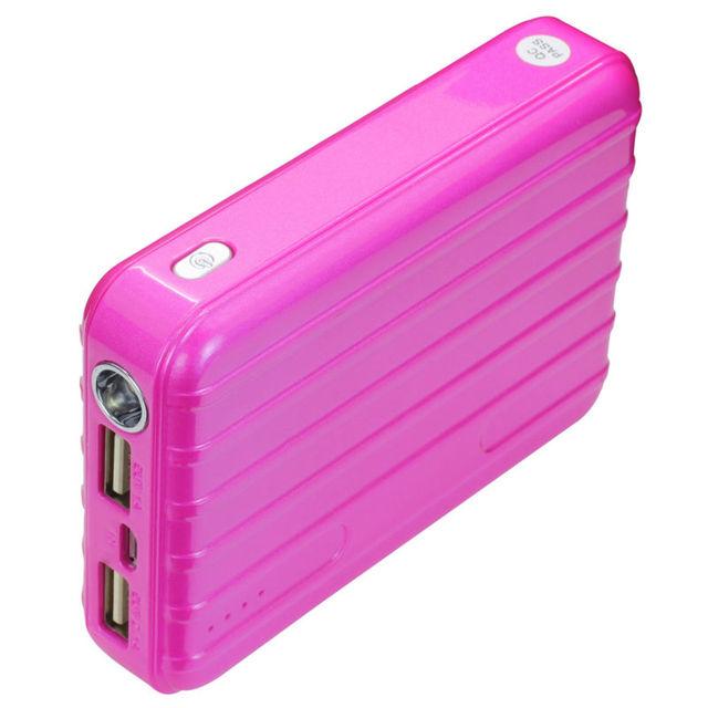 Banco de la energía 12000 mah carga rápida cargador de batería externa portátil para xiaomi iphone smartphone