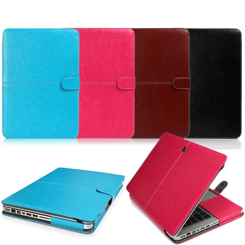 Full PU Leather Smart Holster Protective Laptop Sleeve Case for Apple Macbook 11 13 15 Pro/Retina/Air Laptop Bag for Macbook