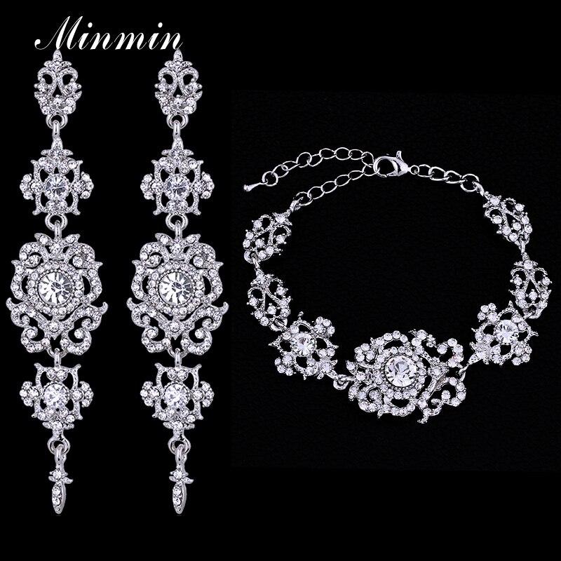 Minmin Top Crystal Bridal Jewelry Sets fs