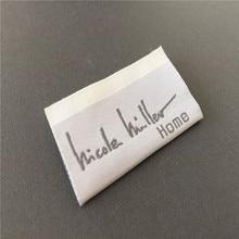 Custom High Density Soft Quality Woven Clothing Label Woven Name Tag Name Labels custom soft quality woven labels woven tags