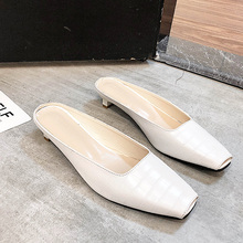 Slip On Shoes For Women Square Toes Flats Summer Autumn 2019 New Brand Slides Ladies Oxfords Mules femme