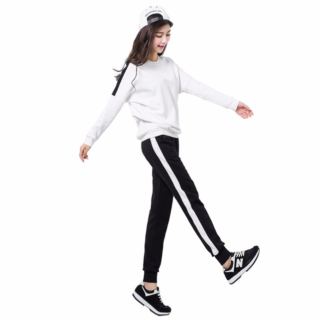 3b056cb84a US $14.45 41% OFF|Aliexpress.com : Buy Women Tracksuit Set Long Sleeve  Stitching Sweatshirts Casual Suit Women Two Piece Set Tops And Pants  Sporting ...