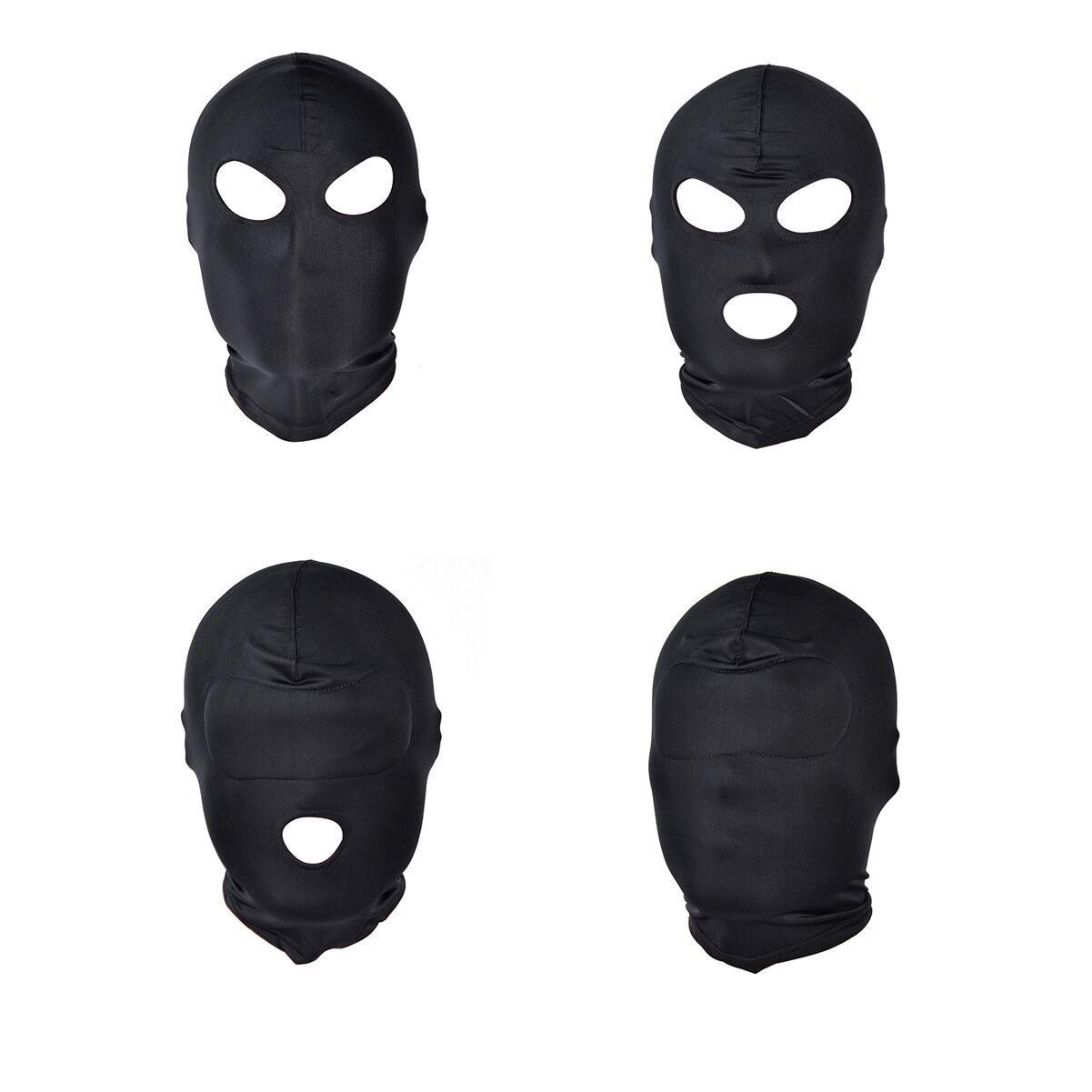 Секс-игры для ролевых игр, черная маска для интима с изнасилованием, маска для головы, раб, открытый рот, связывание с SM, курчавые секс-игрушк...