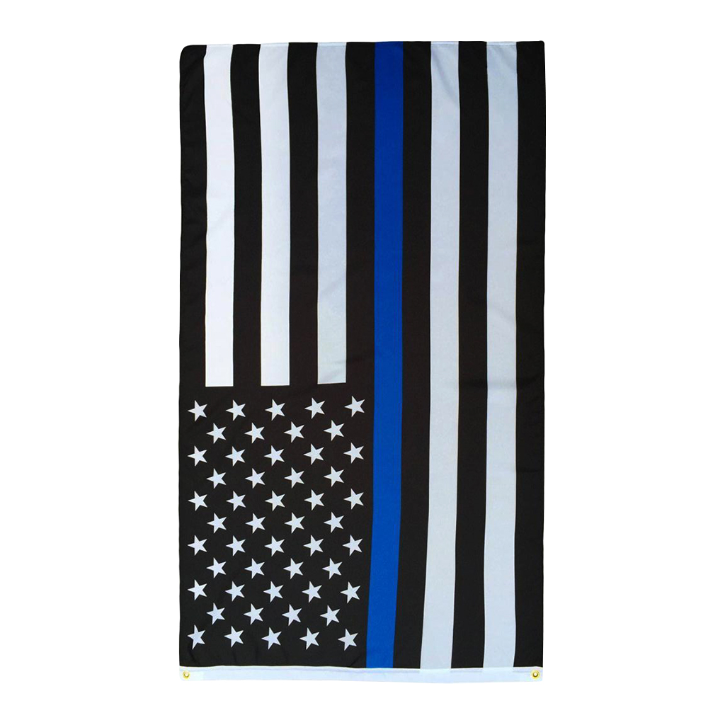 St Michael Archangel blue line 3ftx5ft flag banner law enforcement police new