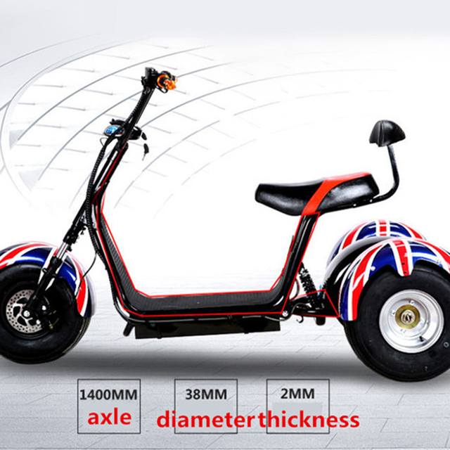 Citycoco Trike 60v 500w Shaft Drive Three Wheel Electric Scooter Tricycle Motorcycle For Men Women