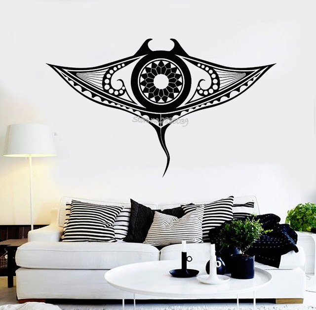 Aliexpresscom Buy New Design Vinyl Wall Decal Manta Ray Marine - Vinyl stickers designaliexpresscombuy eyes new design vinyl wall stickers eye wall