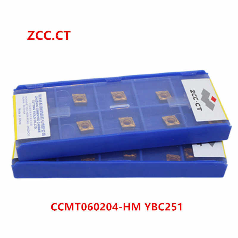 ZCC.CT 10P SCMT120404 YBC251 CNC Carbide Insert  Turning Insert for Steel