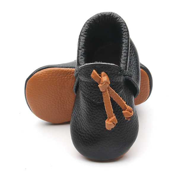 60 пар/лот Новый Натуральной Кожи Ручной Работы Детские Мокасины Обувь коричневый кисточкой мальчиков Обувь Новорожденные первые ходунки малыша Обувь