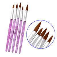 2017 New Hot 5 Pcs/Set Nail Art Brush Pens UV Gel Polish Liner Nails Painting Drawing Brushes DIY Manicure Tool Kit SK88