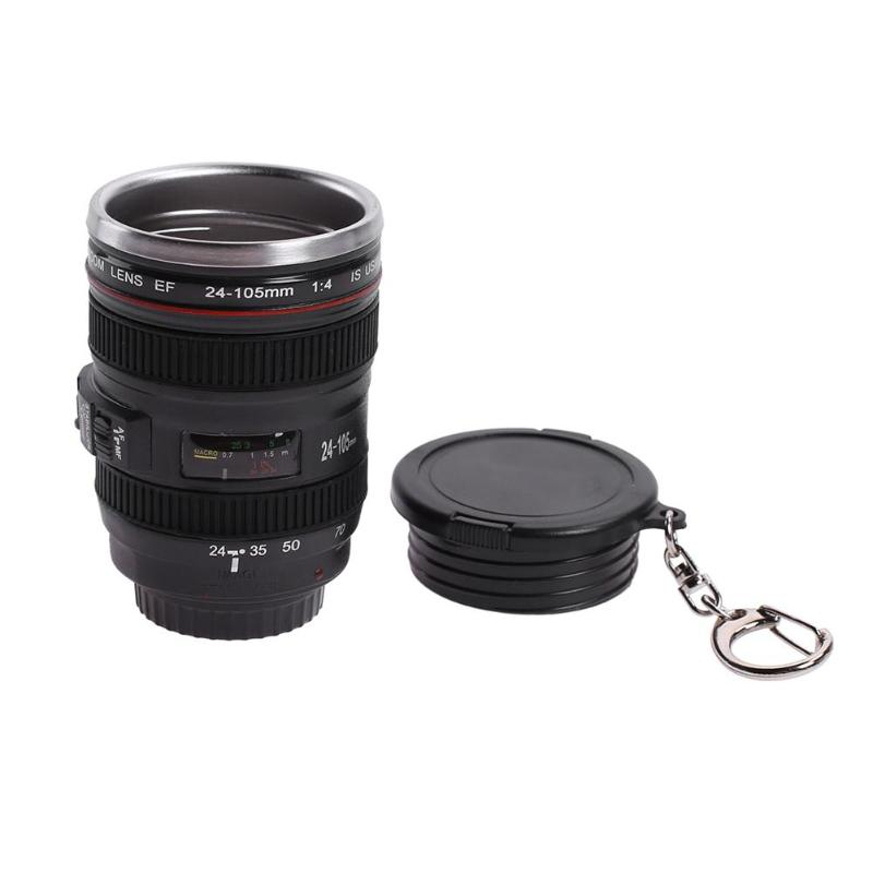 50ml ABS Stainless Steel Camera Lens Mug with Lid Fantastic Coffee Mugs Tea Cup Novelty Gifts Caneca Lente Cups Drinkware