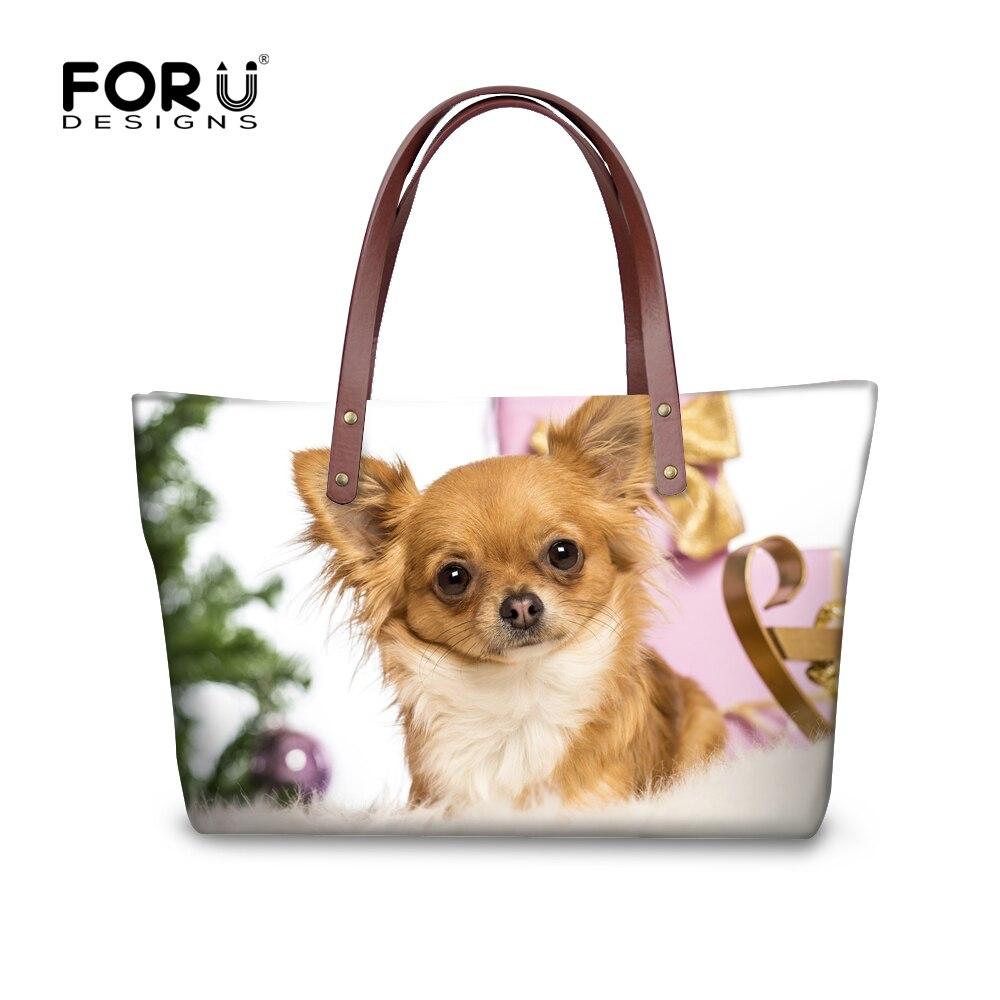 FORUDESIGNS 2017 New Women Fashion Handbag Large Capacity Female Casual Tots 3D Wolf Dog Woman Messenger Bag Shoulder Blosa Girl tote bag
