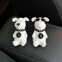 цена на 2019New Car Air Freshener Natural Gypsum Dogs Mademade Air Conditioning Air outlet Perfume Clip Fragrance Diffuser Car Perfume