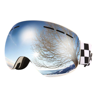 Jiepolly Ski Goggles Skiing Skating Sunglasses Double Layers Lenses UV400 Anti Fog For Men Women Snowmobile