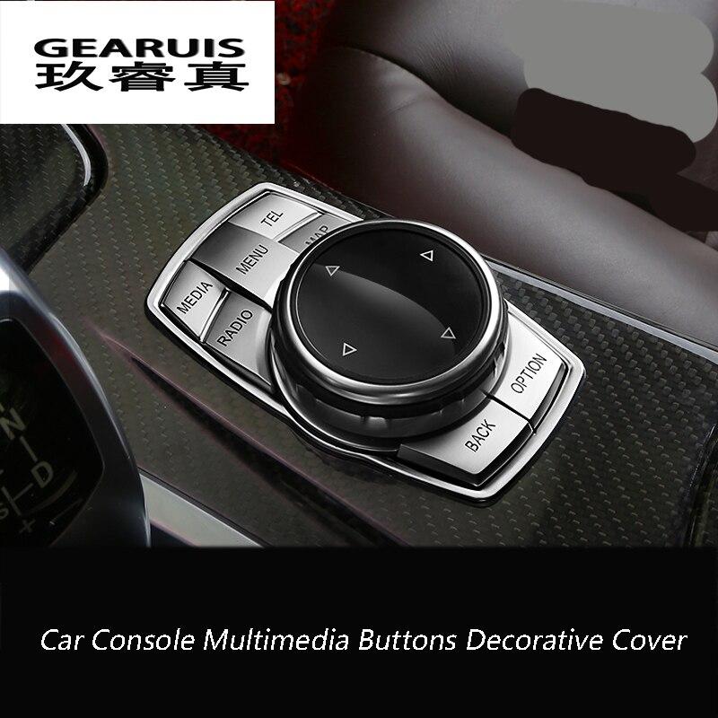 Car Interior Console Multimedia Buttons Decorative Cover Trim For BMW X1x3x4/F26/x5/F15x6/F16 1/2/3/5 Series F30 F10 2011-2016