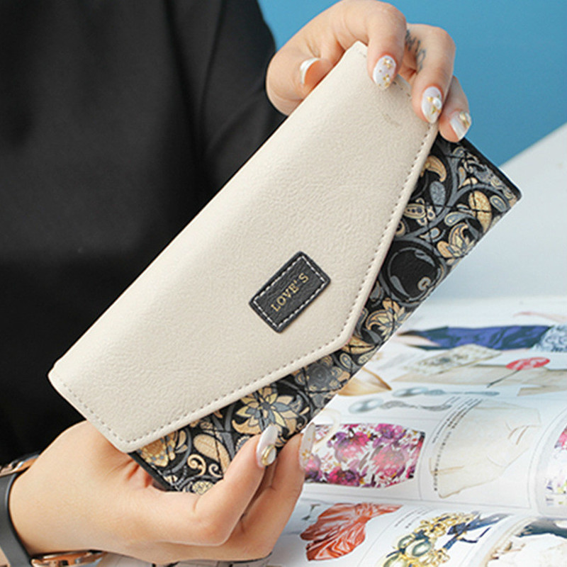 Long Ladies Leather Women Wallets Portfolio Luxury Brand Designer Female Clutch Coin Purses Money Bag Cuzdan Walet Pocket Vallet