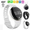 Bluetooth deportes pulsera pulsera gimnasio rastreador pasómetro e07 ip67 a prueba de agua banda inteligente pk tw64 mi banda e02 smartband e06