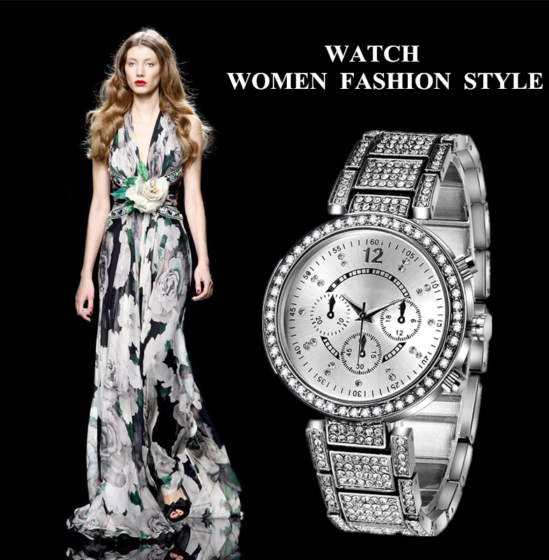 Gold & Silver Women Luxury Watches stainless steel Dress Quartz elegant Watch Fashion Wristwatches Ladies relogios top quality! liber aedon gold stainless steel strap top brand luxury women watch anique design sport quartz elegant fashion women watches