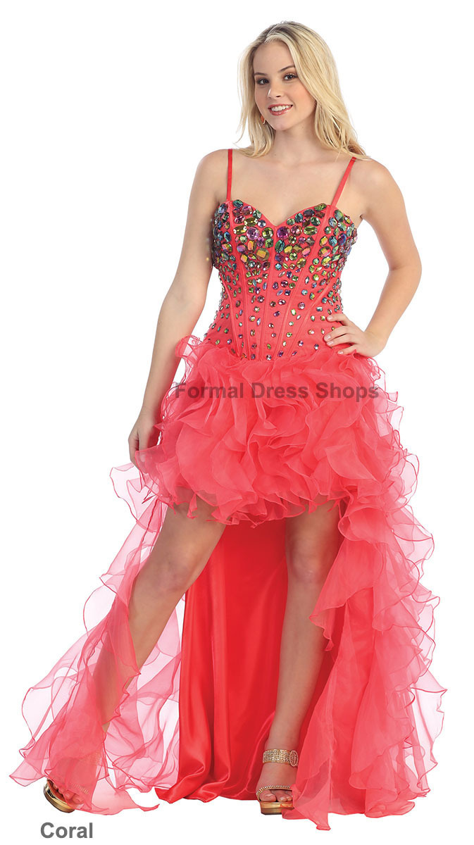 free shipping custom crystal sweetheart HIGH LOW PROM ENGAGEMENT GOWN FORMAL EVENING PAGEANT GOWNS SEXY Mother of Bride Dresses