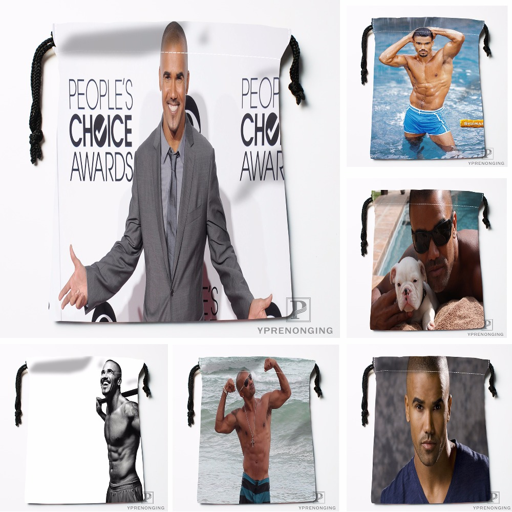 CustomShemar Moore Drawstring Bags Printing Travel Storage Mini Pouch Swim Hiking Toy Bag Size 18x22cm#0412-11-98