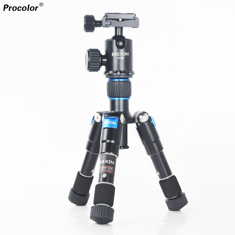 Prix pour Photographie mini table téléphone trépied de pêche mini trépied kit avec rotule pour canon nikon dslr appareil photo numérique