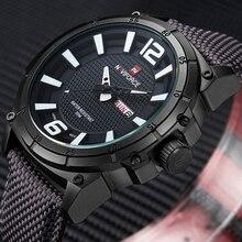 NAVIFORCE Top marque militaire montres hommes mode décontracté toile cuir Sport Quartz montres mâle horloge Relogio Masculino