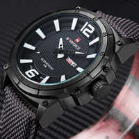 Relojes militares de marca NAVIFORCE, relojes de pulsera de cuarzo deportivos, de cuero, de lona, para hombre, reloj Masculino, reloj Masculino