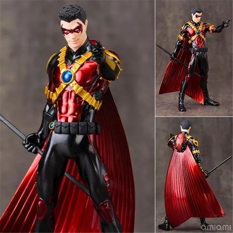 ARTFX + STATUE DC Super Hero 52th Ver. Red Robin Doll 1/10 Scale Pre-Painted PVC Action Figure Collectible Model Kids Toys 18cm artfx statue dc super hero red robin 1 10 scale pre painted figure collectible model toy